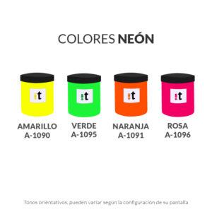 carta de colores tintas tiser serie a colores neon