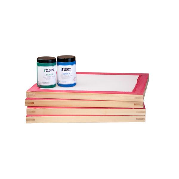 4-pantallas-serigrafia-madera-enteladas-regalo-2-botes-tinta-serigrafia-1-kg