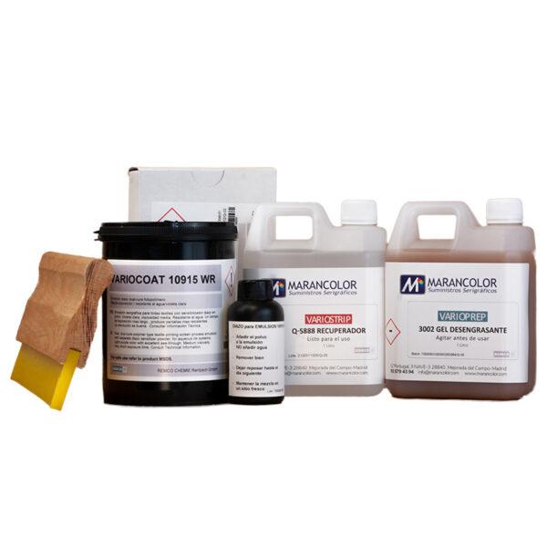 Kit-emulsion-con-desengrasante-recuperador-rastrillo-serigrafia