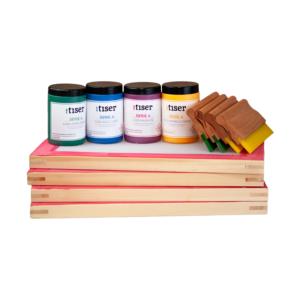 kit-serigrafia-especial-textil-4-botes-tinta-textil-serigrafia-acramina-laca-4-rastrillos-madera-con-goma-pantallas-enteladas-madera-tiser