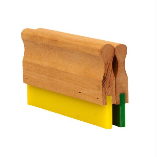 rastrillos-madera-goma-verde-goma-amarilla-serigrafia-rasero-racleta-rasqueta